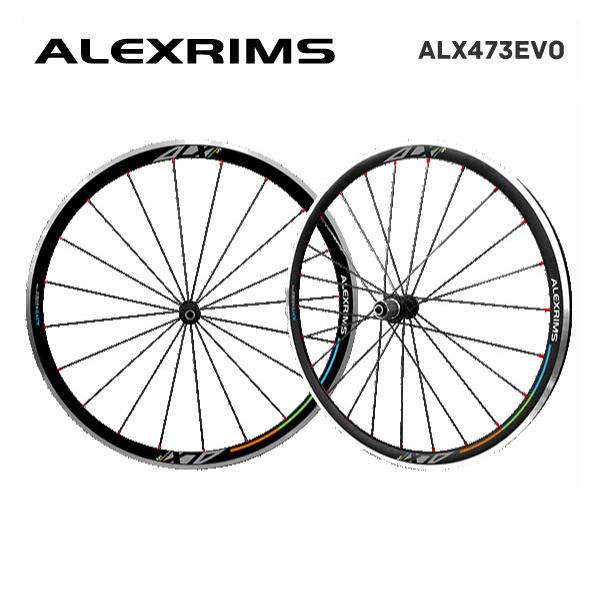 (送料無料)ALEXRIMS アレックスリム ROAD チューブレスレディホイール ALX473EVO (シマノ 8-9-10-11S) 前後セット(820519)