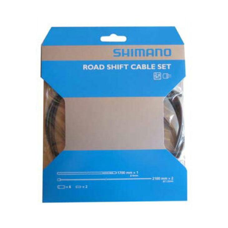 情熱セール SHIMANO ROAD SHIFT CABLE SET STEEL bk ネコポス便対応商品 Steel SETロード用 4524667605027 シフトケーブルセット Y60098501 専門店 ブラック シマノROAD