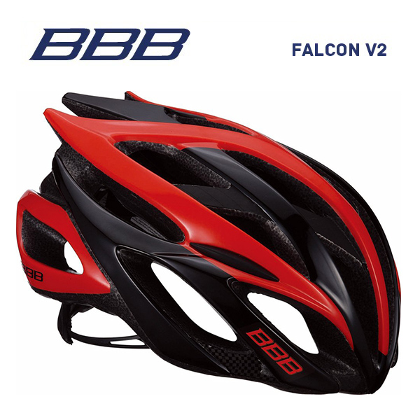 (送料無料)BBB ヘルメット BHE-01 FALCON V2 ファルコンV2 ブラック/レッド