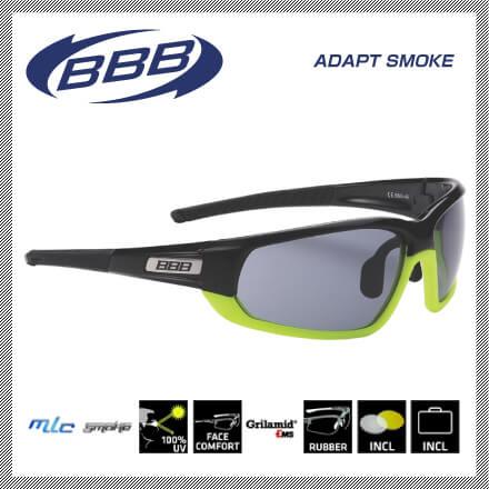 (送料無料)(BBB)SPORTGLASSES スポーツグラス ADAPT SMOKE BSG-45 アダプトスモーク ブラック(131327)(30001508)