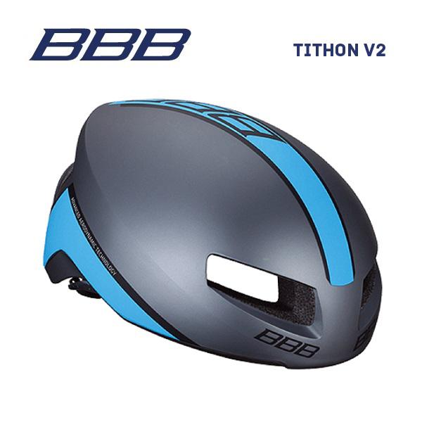 (送料無料)BBB ヘルメット BHE-08 TITHON V2 ティトノス V2 マットグレー/ブルー