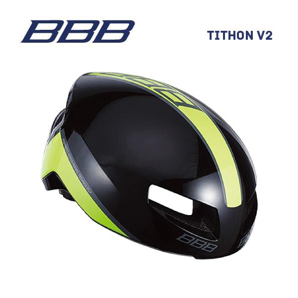 (送料無料)BBB ヘルメット BHE-08 TITHON V2 ティトノス V2 グロッシーブラック/ネオンイエロー