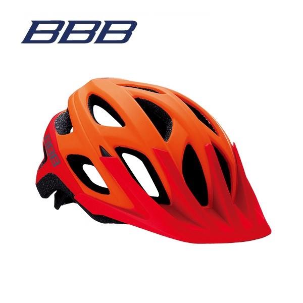 (送料無料)BBB ヘルメット BHE-67 VARALLO バラロ マットオレンジ/レッド