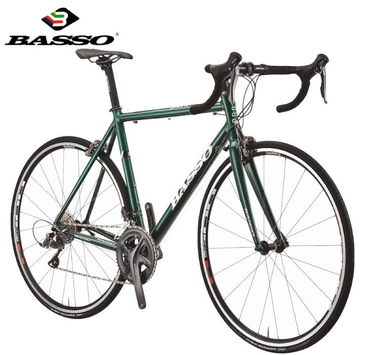 ロードバイク 2020 BASSO バッソ IMOLA イモラ グリーン SHIMANO CLARIS 16段変速 アルミ