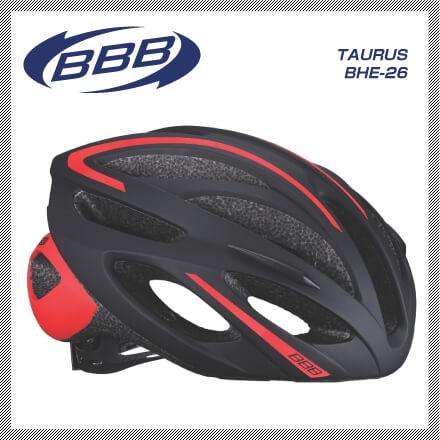 (送料無料)(BBB)HELMET ヘルメット TAURUS BHE-26 トーラスBHE-26 ブラックレッド M(154865)L(154866)