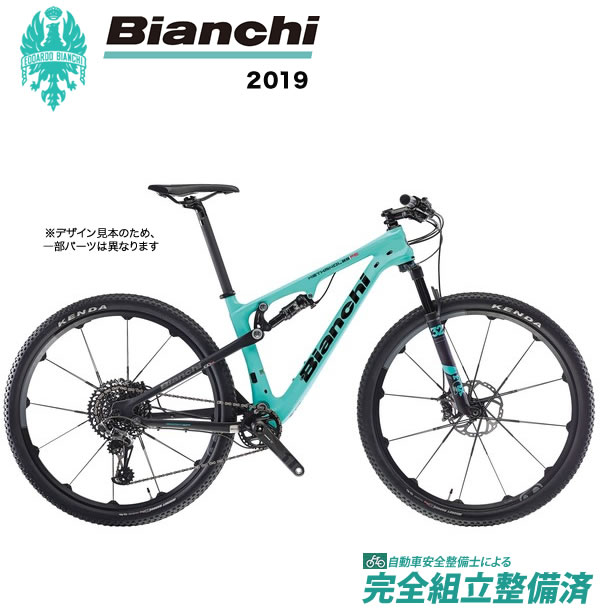 マウンテンバイク 2019年モデル BIANCHI ビアンキ Methanol 9.1 FS Sram XX1 Eagle 1x12 メタノール 9.1 Sram XX1 Eagle 1x12 2A - CK16/Black