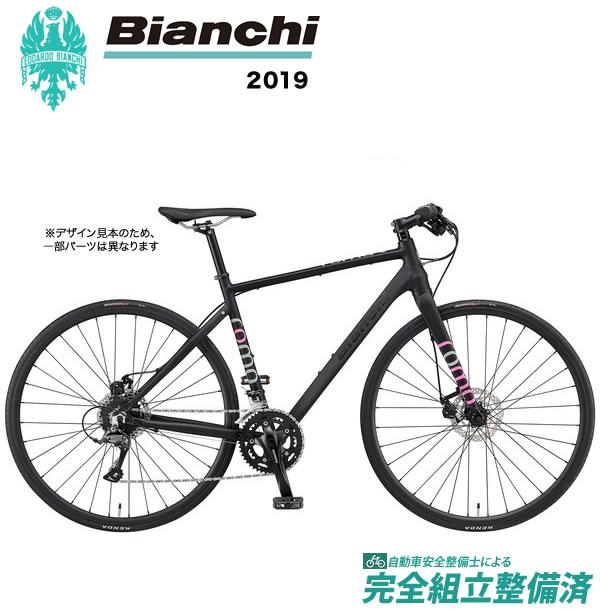 クロスバイク 2019年モデル BIANCHI ビアンキ ROMA3 Disc ローマ3 Disc Matt Black/Pink