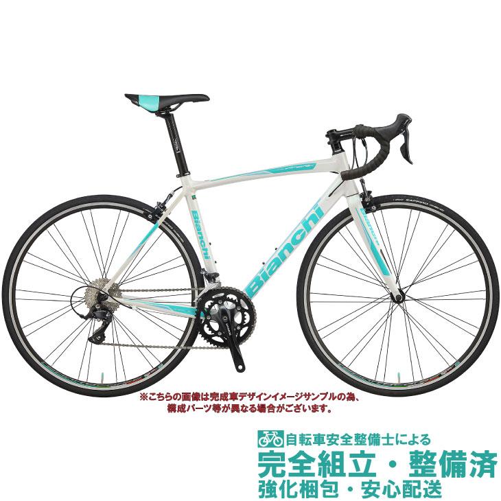 ロードバイク 2020 BIANCHI ビアンキ VIA NIRONE 7 SHIMANO SORA ビア ニローネ7 シマノ ソラ WHITE/CK16 FULL GLOSSY 2×9SP 700C アルミ