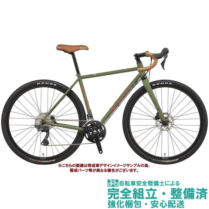グラベルロードバイク 2020 BIANCHI ビアンキ ORSO SHIMANO GRX 600 オルソGRX600 MILITARY GREEN/RED MATT(3Z) オールロード 2×11SP DISC BRAKE クロモリ