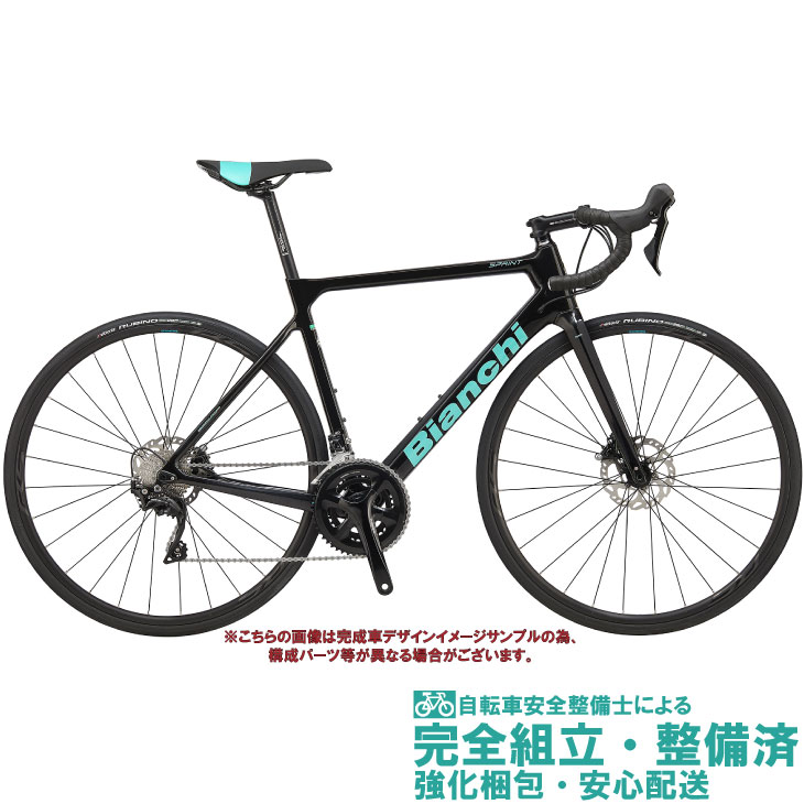 ロードバイク 2020 BIANCHI ビアンキ SPRINT DISC SHIMANO 105 スプリントディスク 105 BLACK/CK16 FULL GLOSSY(5F) 油圧ディスクブレーキ仕様 2×11SP カーボン