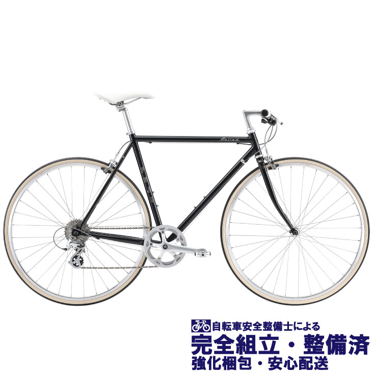 クロスバイク 2020 FUJI フジ BALLAD バラッド ブラック (8段変速)(700C)(クロモリ)(ペダル標準)