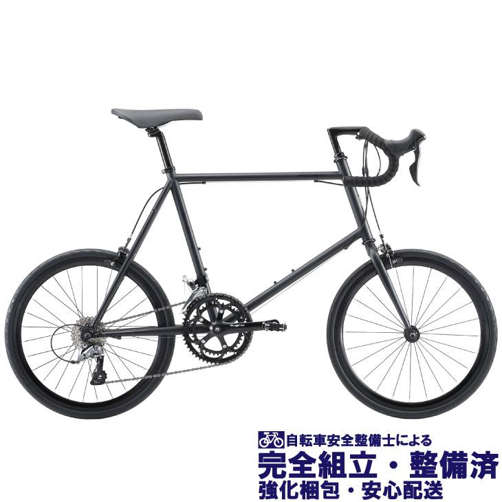 (選べる特典付き!)ミニベロ・小径車 2020 FUJI フジ HELION R ヘリオンR マットブラック (SHIMANO CLARIS)(16段変速)(20インチホイール)(ペダル標準装備)