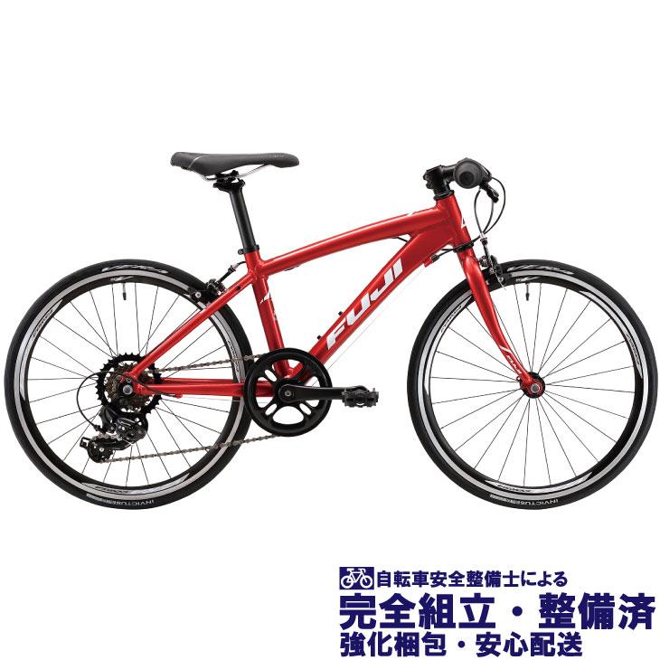 (選べる特典付き!)キッズ・ジュニア 2020 FUJI フジ ACE 20 エース20 ブリリアントレッド(ジュニア・キッズ用クロスバイク)(7段変速)(20