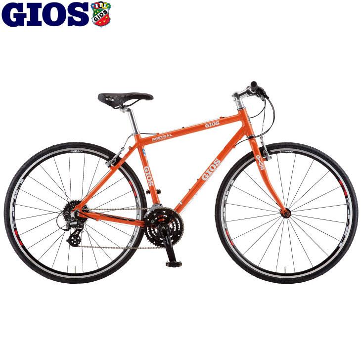 (限定カラー!) クロスバイク 2020 GIOS ジオス MISTRAL ミストラル オレンジ サイズ:400 24段変速 700C アルミ