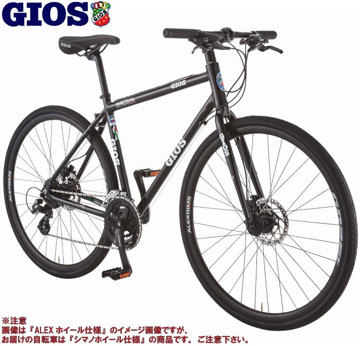 ベストセラーMISTRALのディスクブレーキモデルが登場 選べる特典付 クロスバイク 2021 高級な GIOS ジオス MISTRAL DISC WHEEL SHIMANO ディスク ミストラル シマノホイール仕様 即納 HYDRAULIC ハイドロリック ブラック