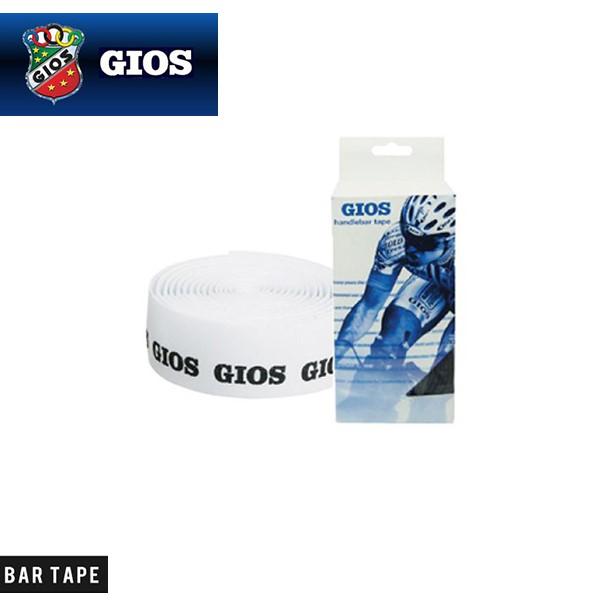 (GIOS) ジオス BAR TAPE バーテープ GIOSロゴ入りエンドキャップ2個付 ホワイト(ブラックロゴ)