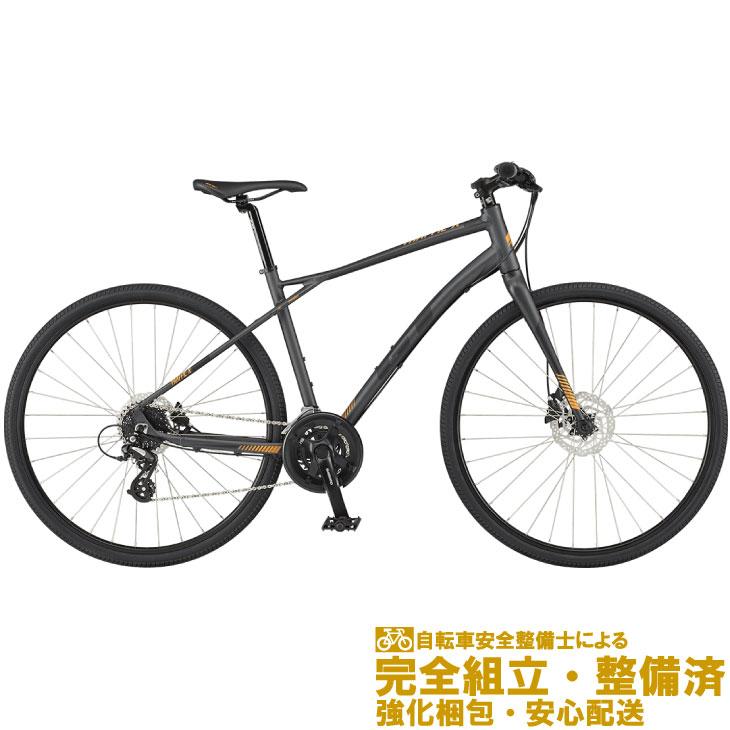 (選べる特典付き!)クロスバイク 2020 GT ジーティー TRAFFIC X トラフィック X ガンメタル 16段変速 (700C)(油圧ディスクブレーキ)(ペダル標準装備)