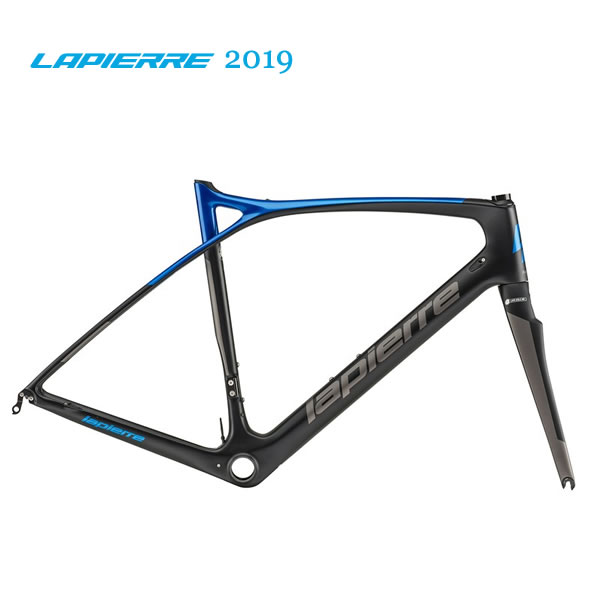 ロードレーサー 2019 LAPIERRE ラピエール XELIUS SL ULTIMATE ゼリウス SL アルチメイト フレームセット マットブラック/メタリックブルー