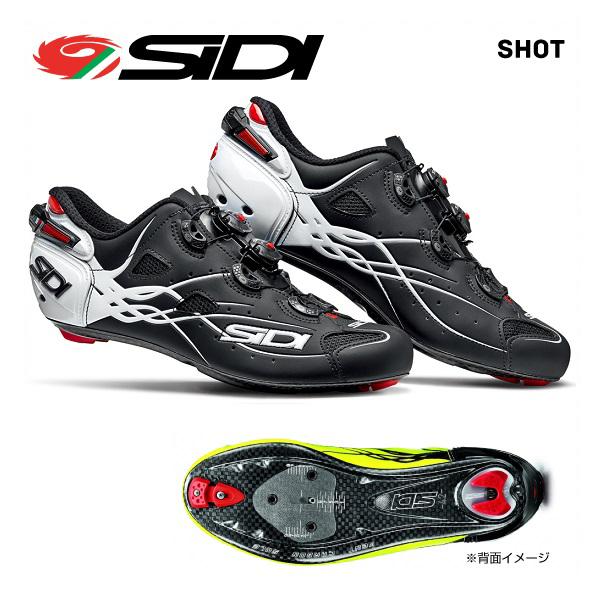 新しい到着 (送料無料)SIDI シディ ROAD シディ SHOES ロードシューズ SHOT SHOES ショット ROAD マットブラックホワイト, 熊本県:c1147658 --- aqvalain.ru