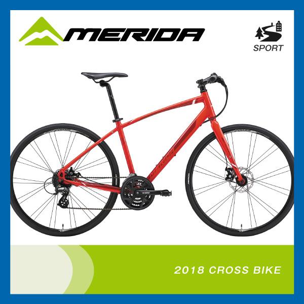 (特典付)クロスバイク 2018年モデル MERIDA メリダ CROSSWAY 200-MD クロスウェイ200-MD Sレッド(レッドホワイト) ER03