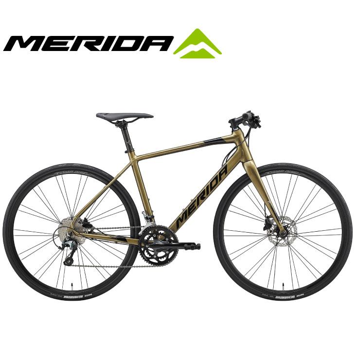 (選べる特典付)クロスバイク 2020 MERIDA メリダ GRAN SPEED 300-D グランスピード300D シャイニーゴールド(ブラック)【EX01】 20段変速 SHIMANO TIAGRA 700C