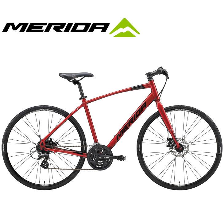 (選べる特典付)クロスバイク 2020 MERIDA メリダ CROSSWAY 200-MD クロスウェイ200MD マットレッド(グロッシーブラック)【ER35】 24段変速 700C アルミ