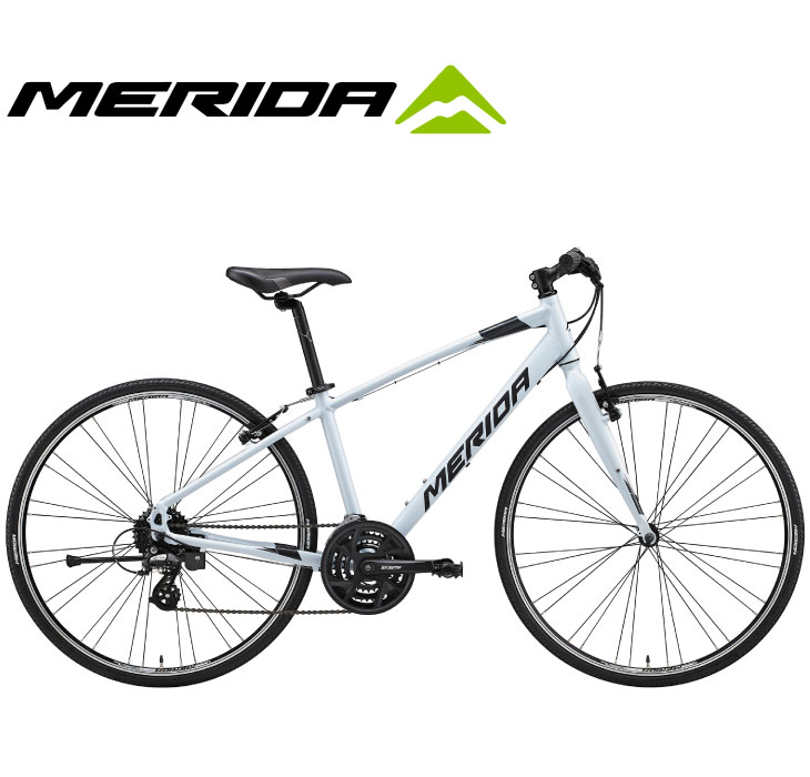 TFS製法アルミフレーム&Vブレーキ採用クロスバイク (選べる特典付)クロスバイク 2020 MERIDA メリダ CROSSWAY 100-R クロスウェイ100R パールホワイト(グレー)【EW40】 24段変速 700C V-BRAKE アルミ