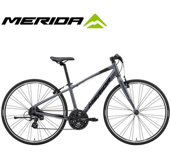 小柄な人のための専用ジオメトリーを採用したクロスバイク (選べる特典付)クロスバイク 2020 MERIDA メリダ CROSSWAY 110-R クロスウェイ110R アンスラサイト(ブラック)【ES77】 24段変速 700C アルミ