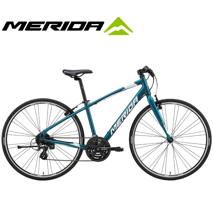 小柄な人のための専用ジオメトリーを採用したクロスバイク (選べる特典付)クロスバイク 2020 MERIDA メリダ CROSSWAY 110-R クロスウェイ110R スカイブルーグリーン【EB83】 24段変速 700C アルミ