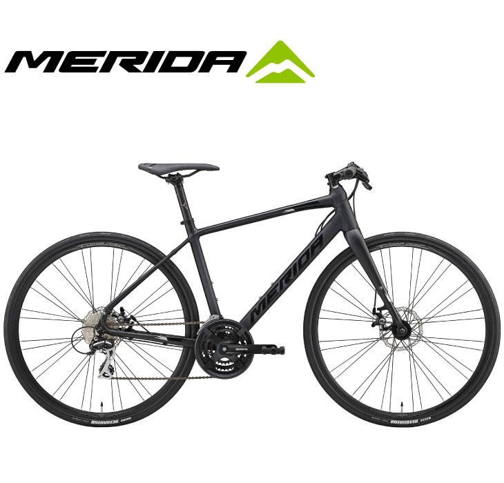 (選べる特典付)クロスバイク 2020 MERIDA メリダ GRAN SPEED 80-MD グランスピード80MD マットブラック(グロッシーブラック/シルバー)【EK85】 24段変速 700C