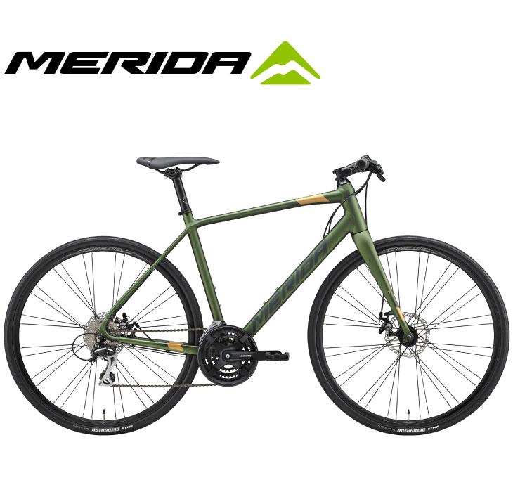 (選べる特典付)クロスバイク 2020 MERIDA メリダ GRAN SPEED 80-MD グランスピード80MD マットフォググリーン(ダークグリーン/ゴールド)【EG48】 24段変速 700C