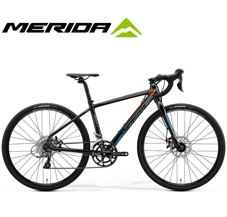 (選べる特典付)ジュニア用ロードバイク 2020 MERIDA メリダ MISSION J.ROAD ミッションJロード メタリックブラック(オレンジ/ブルー)【EK64】 16段変速