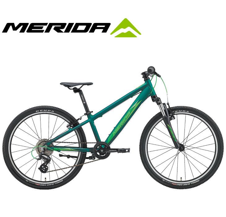 (選べる特典付)キッズ・ジュニア用マウンテンバイク 2020 MERIDA メリダ MATTS J.24 マッツJ24 マットダークグリーン(ライトグリーン)【EG42】 8段変速