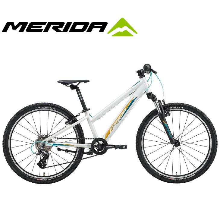 (選べる特典付)キッズ・ジュニア用マウンテンバイク 2020 MERIDA メリダ MATTS J.24 マッツJ24 グロッシーホワイト(ティール/ゴールド)【EW41】 8段変速
