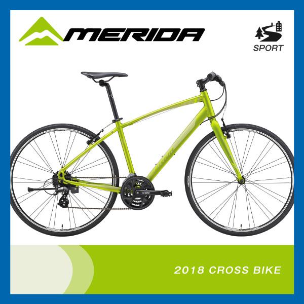 (特典付)クロスバイク 2018年モデル MERIDA メリダ CROSSWAY 100-R クロスウェイ100-R マットオリーブ(グリーン) EG27