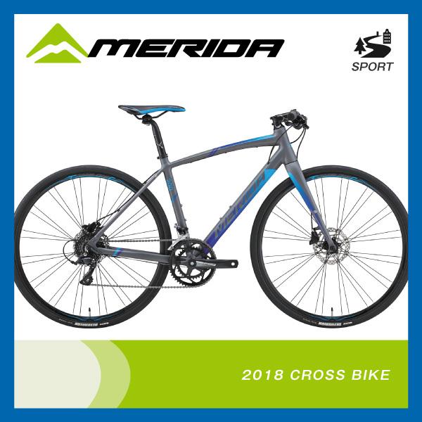 (特典付)クロスバイク 2018年モデル MERIDA メリダ GRAN SPEED 200-D グランスピード200-D マットグレー(ブルー) ES44