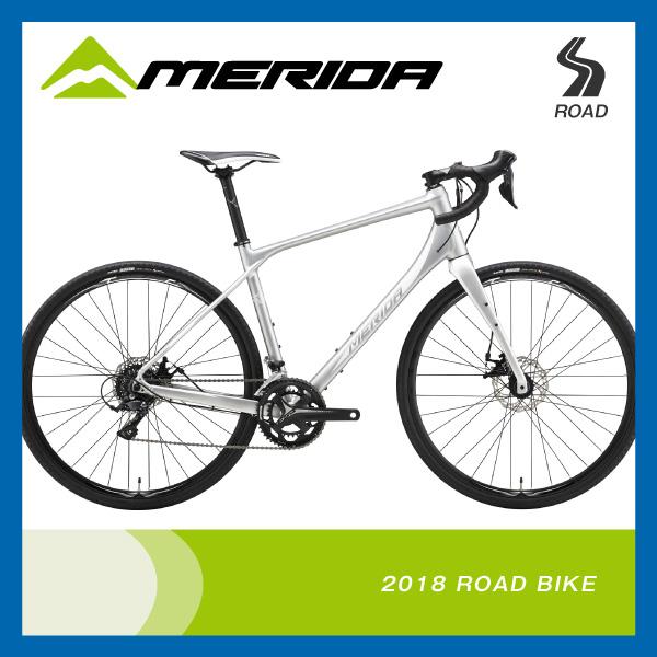 (特典付)ロードレーサー 2018年モデル MERIDA メリダ SILEX 200 サイレックス200 マットシルバー(ホワイト) ES48