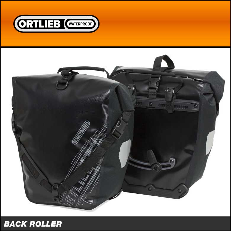 (送料無料)ORTLIEB オルトリーブ Black'n White シリーズ BACK ROLLER バックローラー B&W(ペア) QLフックシステム:QL2.1 ブラック(F5102)