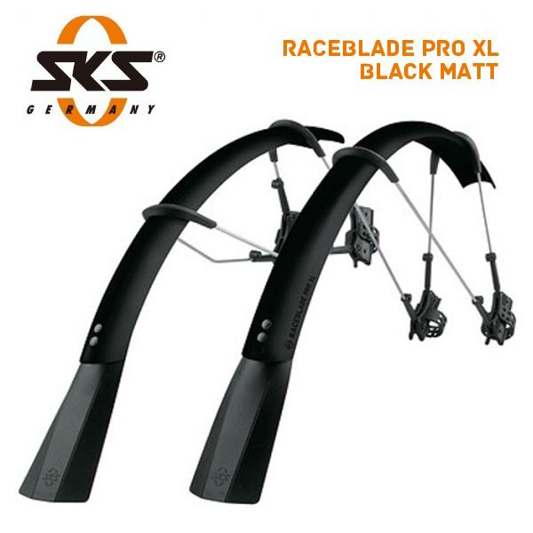 SKS エスケーエス MUDGUARDS マッドガード RACEBLADE PRO XL BLACK MATT レースブレード プロ XL ブラックマット (フロント・リアセット) (11431)(4002556791230)