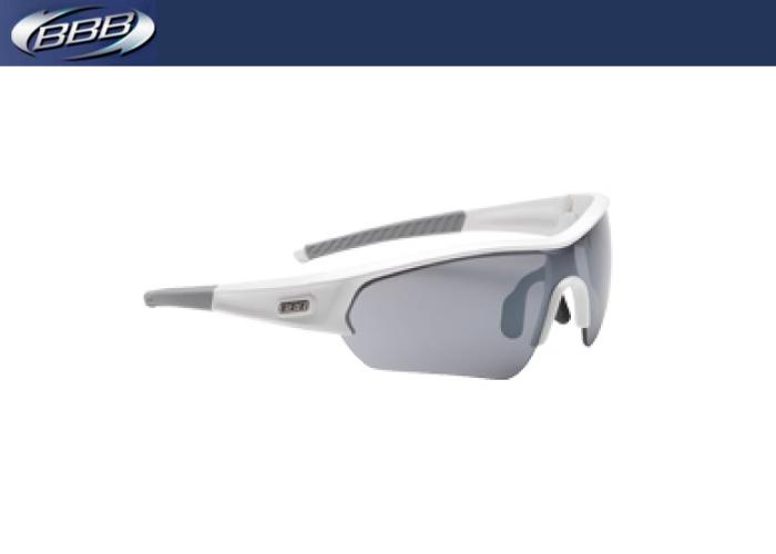 (BBB)スポーツグラス SELECT セレクト ホワイト/スモークフラッシュミラー 131173