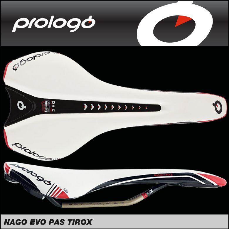 (送料無料)(Prologo)プロロゴ Saddle サドル NAGO EVO PASS 141 TiroX ナゴエボパス141TiroX ホワイトブラック 4711946197834