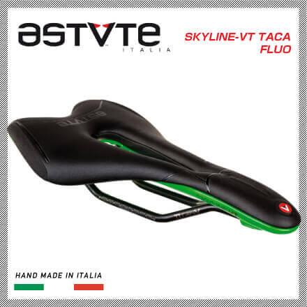 (送料無料)(ASTVTE)アスチュート SADDLE サドル SKYLINE-VT TACA FLUO スカイラインVT TACAフルオ ブラックグリーン(8054615210431)