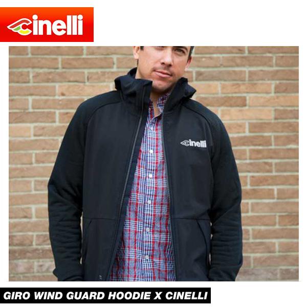 (送料無料)cinelli チネリ 限定 WEAR ウェア GIRO WIND GUARD HOODIE X CINELLI ジロウインドブレーカー Lサイズ(605054-000017)