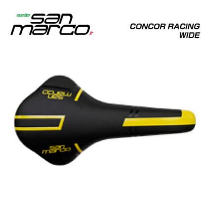 (送料無料)(san marco) サンマルコ SADDLE サドル CONCOR RACING WIDE コンコールレーシングワイド イエロー(5427278LW001Y)