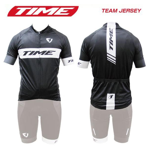 (送料無料)(TIME)タイム WEAR ウェア TEAM JERSEY チームジャージ ブラックホワイト