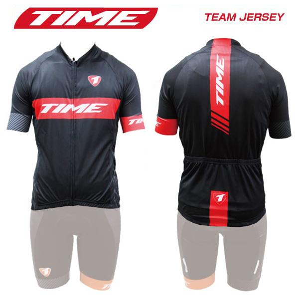(送料無料)(TIME)タイム WEAR ウェア TEAM JERSEY チームジャージ ブラックレッド