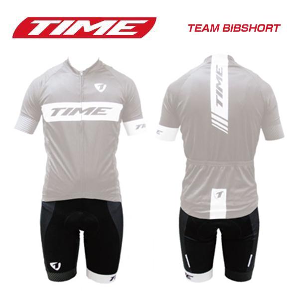 (送料無料)(TIME)タイム WEAR ウェア TEAM BIBSHORT チームビブショーツ ブラックホワイト