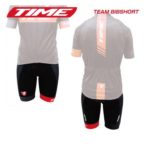 (TIME)タイム WEAR ウェア TEAM BIBSHORT チームビブショーツ ブラックレッド