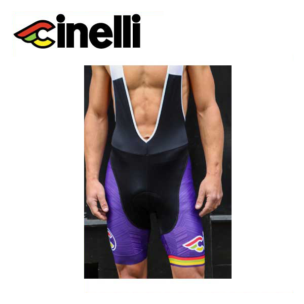 (送料無料) cinelli チネリ WEAR ウェア ITALO 79 AERO PURPLE BIBSHORT