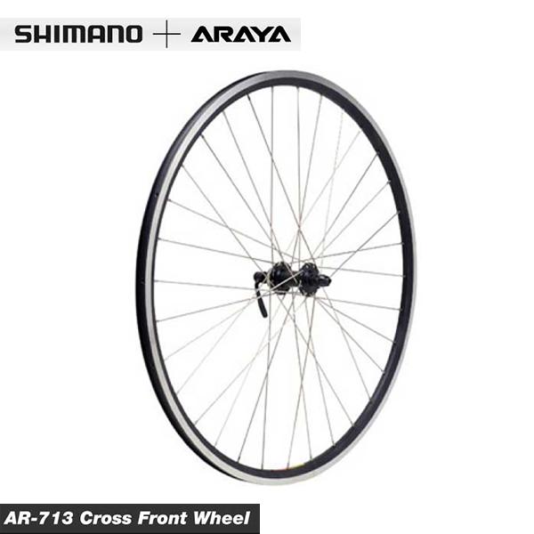 (SHIMANO+ARAYA)シマノ+アラヤ WHEEL ホイール AR-713 Cross Front Wheel クロスフロントホイール(WLF05700)(4582326465016)